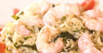 Fricassée de langoustines et son riz pilaf au wakamé