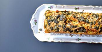 Cake Brocoli Feta et Laitue de Mer
