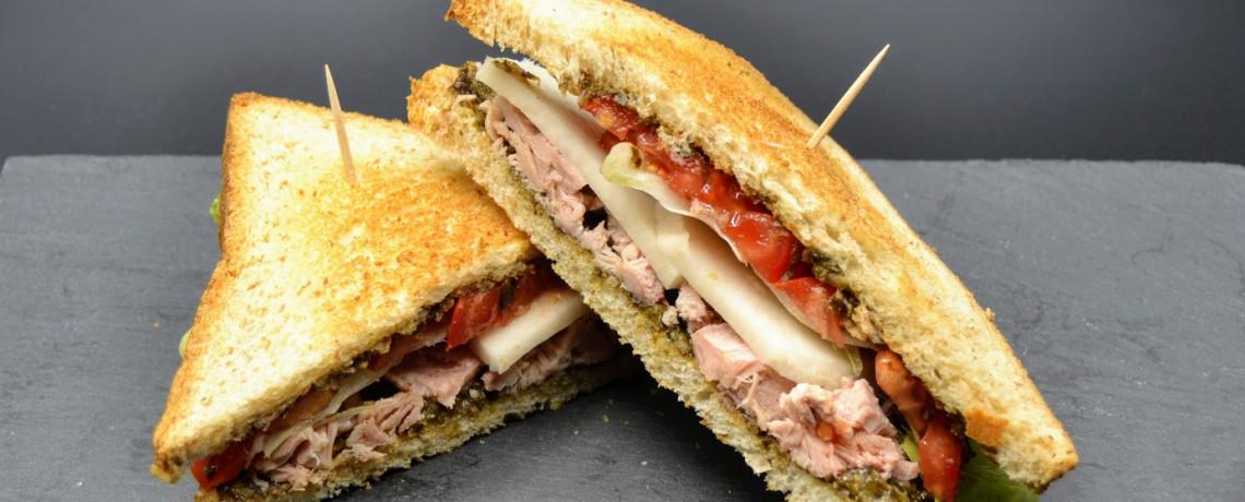 Club sandwich thon tartare d'algues