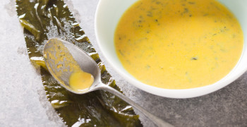 Soupe orange et verte